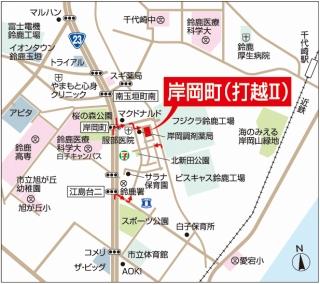 岸岡町地図